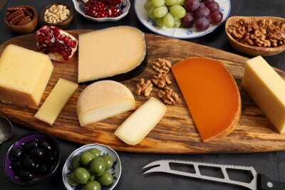 Cheese and other snacks.