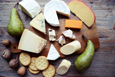 Wall mural Cheese board