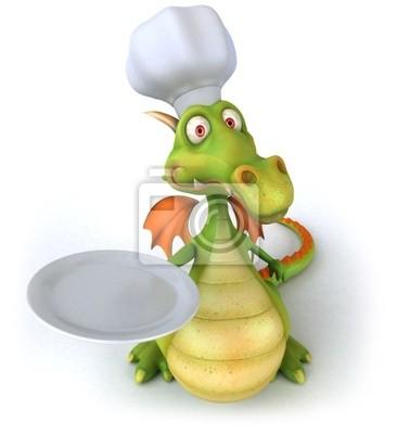 Wall mural Chef dragon