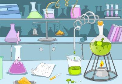 Wall mural Chemical Laboratory