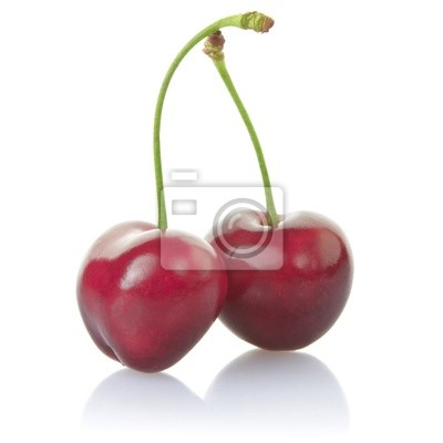 Wall mural cherries with clipping path