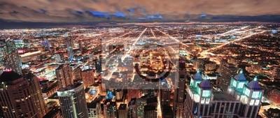 Chicago urban skyline panorama