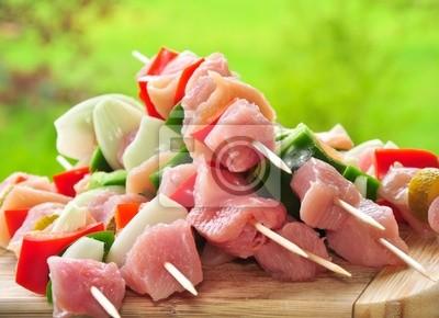 Chicken skewers for grilling season
