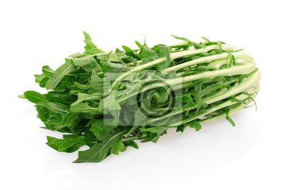 Wall mural Chicory salad on white with clipping path