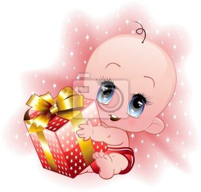 Child Christmas Gift Christmas Gift -Baby -Vector