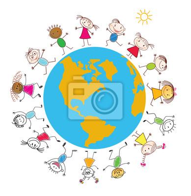 Children around the Earth. Conceptual background.
