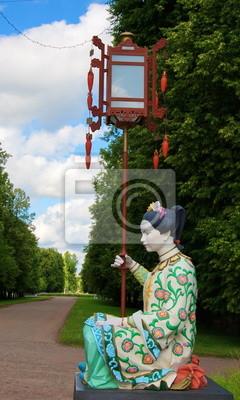 Chinese bridge in the park Tsarskoye Selo