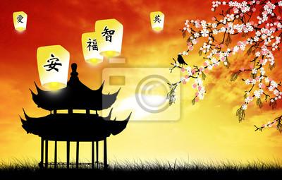 Wall mural Chinese pagoda