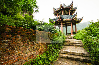 Chinese pavilion in nature