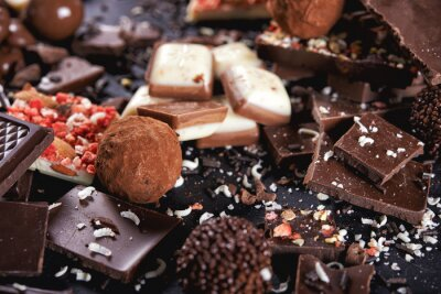 Wall mural chocolate candy