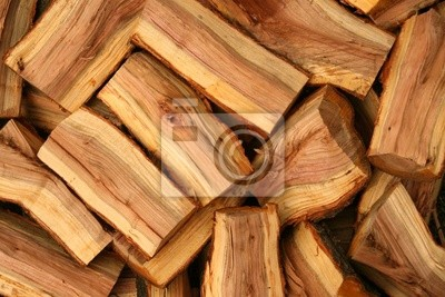 Wall mural Chopped fire wood