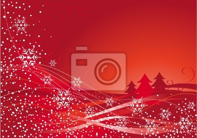 Christmas decoration and red tree