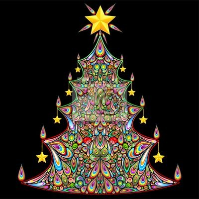 Christmas Tree Colorful Art Design-Albero Natale Ornamentale