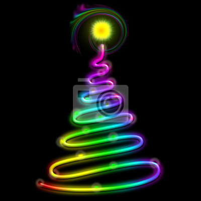 Christmas Tree Psychedelic Neon Light-Albero Natale Psichedelico