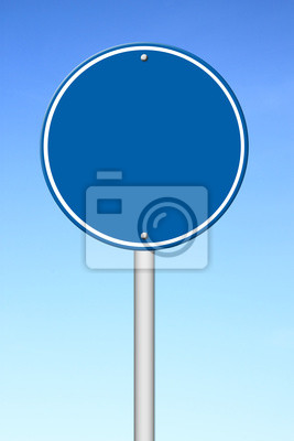 circle sign with blue sky
