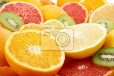 Wall mural citrus fruits