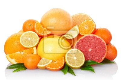 Wall mural Citrus Fruits with clipping path