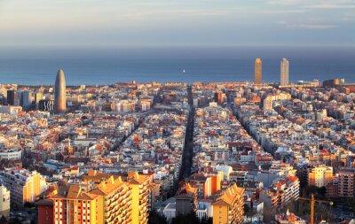 Wall mural Cityscape of Barcelona, Spain
