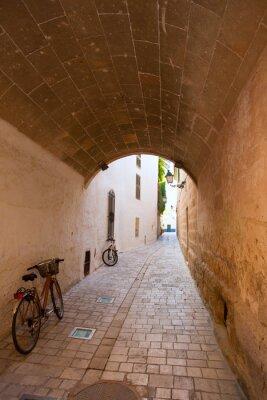 Wall mural Ciutadella Menorca barrel vault passage downtown