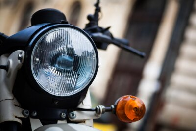 Wall mural Classic motorcycle headlight