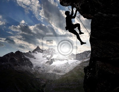 climbers in the Swiss Alps