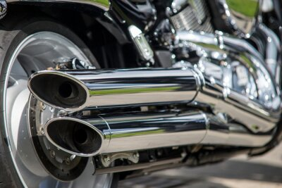 Wall mural close up of motorcycle exhaust