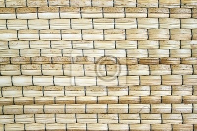 Close up of woven mat texture background