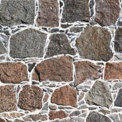 Wall mural Cobblestone wall fragment texture