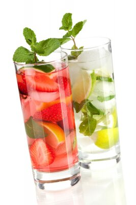 Cocktail collection: Strawberry and classic mojito