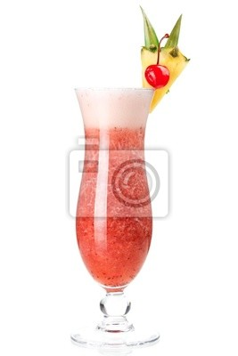 Wall mural Cocktail collection: Strawberry Pina Colada