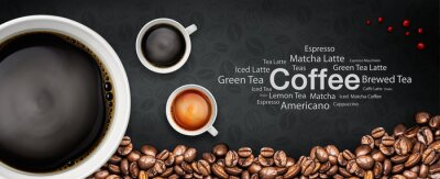 Wall mural coffee backgrond