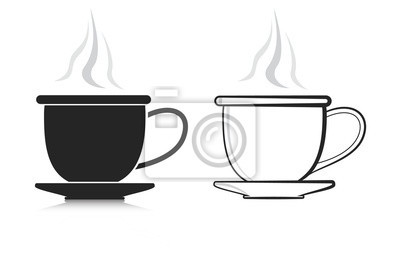 coffee cup set vector icons