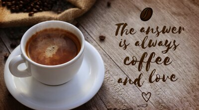 Wall mural Coffee Quote