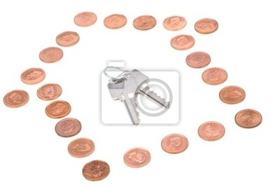coins and home keys