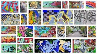 Wall mural collage...graffiti