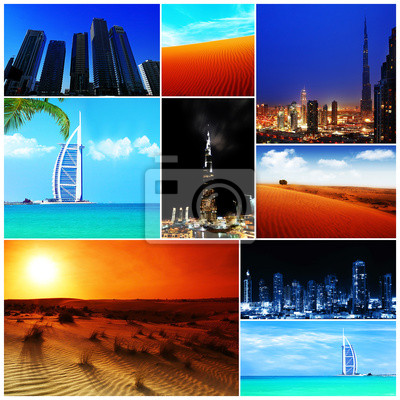 Wall mural Collage of United Arab Emirates images