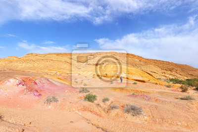 Color sand valley