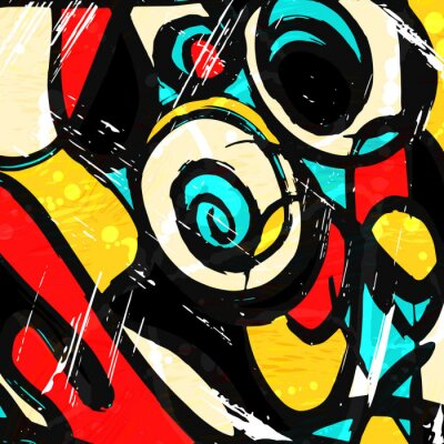 colorabstract ethnic pattern in graffiti style with elements of urban modern style bright quality illustration for your design
