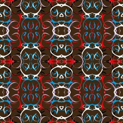 colorabstract ethnic seamless pattern in graffiti style with elements of urban modern style bright quality illustration for your design