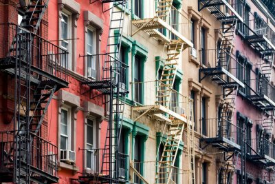Wall mural Colored Apartment Buildings in New York City