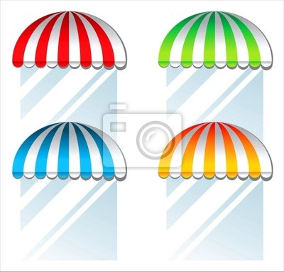 colored awnings