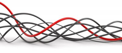 Wall mural Colored cables. Image with clipping path.