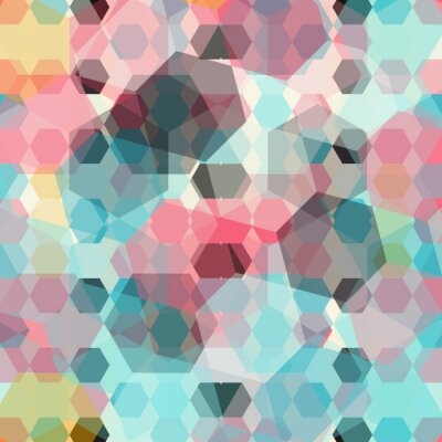 Wall mural colored geometric background