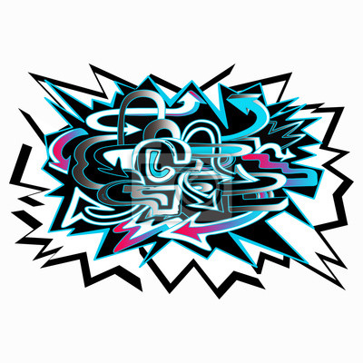colored graffiti background arrows on white background vector illustration