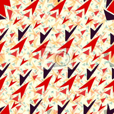 colored triangles seamless geometric pattern vector wallpaper