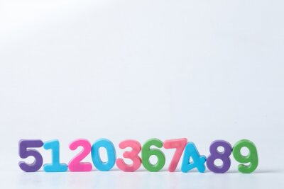 Wall mural Colorful Assorted Numbers