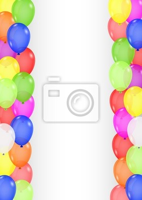 Wall mural Colorful balloon background