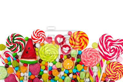 Wall mural Colorful candies and lollipops