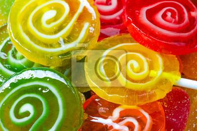 Colorful candies lollipop