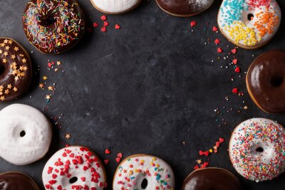 Wall mural Colorful donuts